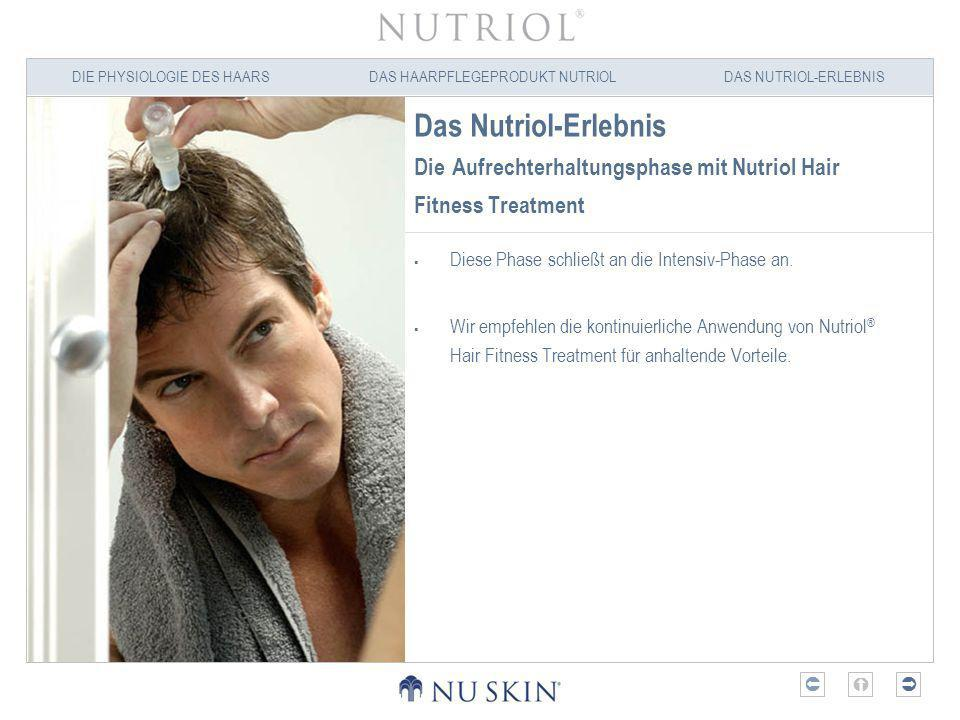 Das Nutriol-Erlebnis Die Aufrechterhaltungsphase mit Nutriol Hair Fitness Treatment