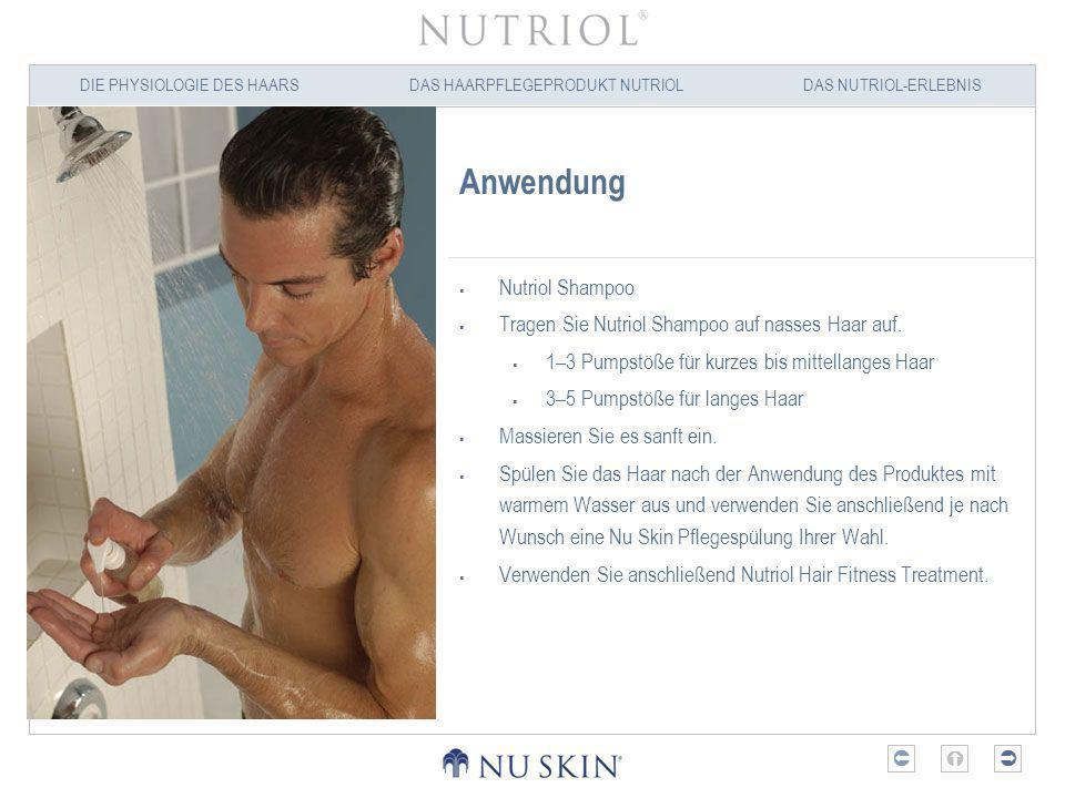 Anwendung Nutriol Shampoo