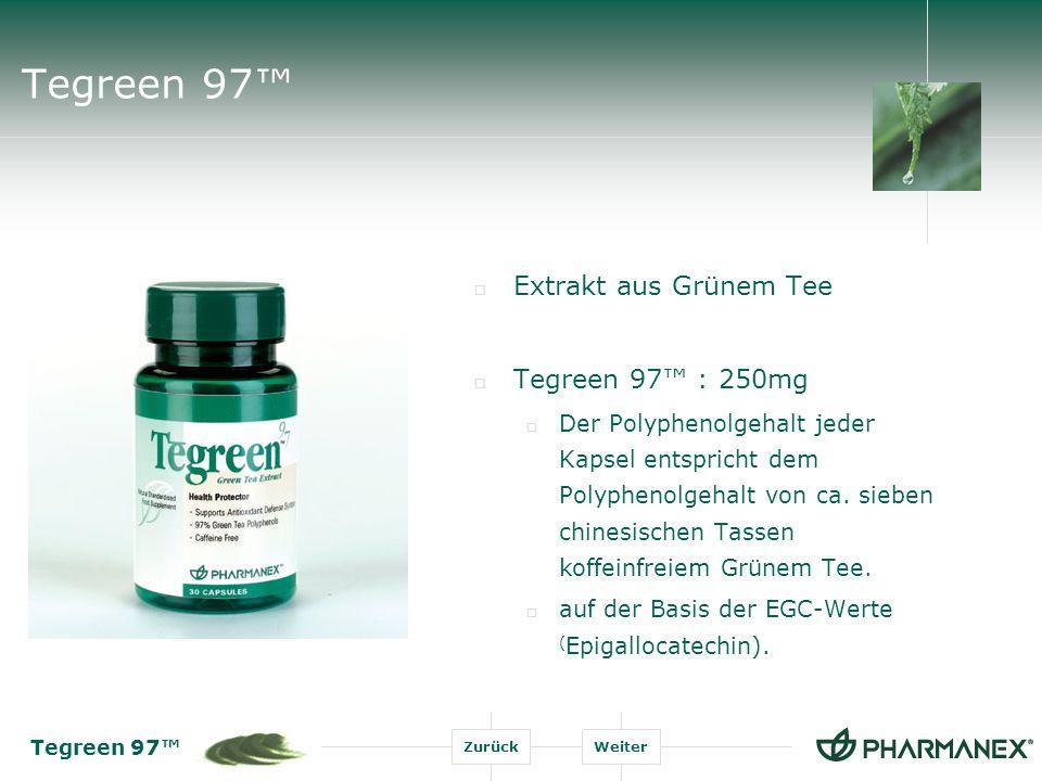 Tegreen 97™ Extrakt aus Grünem Tee Tegreen 97™ : 250mg