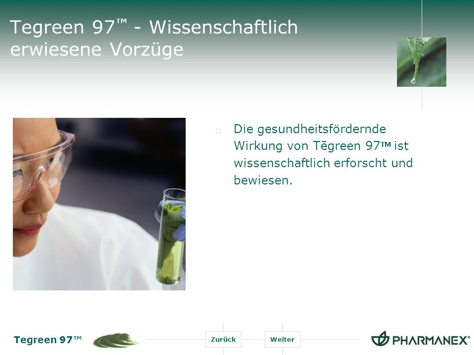 Tegreen 97™ - Wissenschaftlich erwiesene Vorzüge