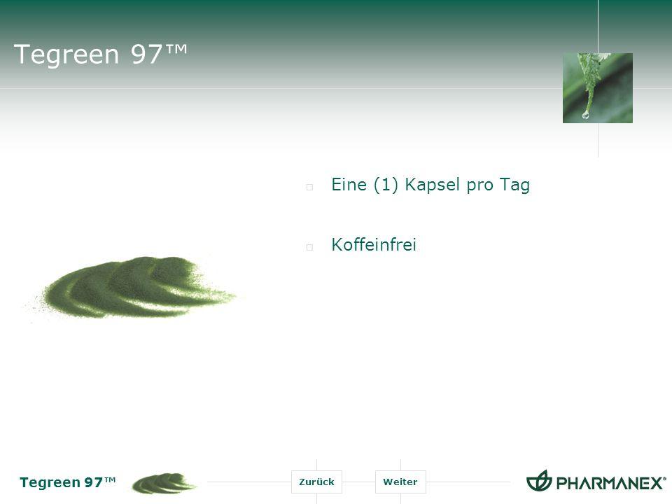 Tegreen 97™ Eine (1) Kapsel pro Tag Koffeinfrei