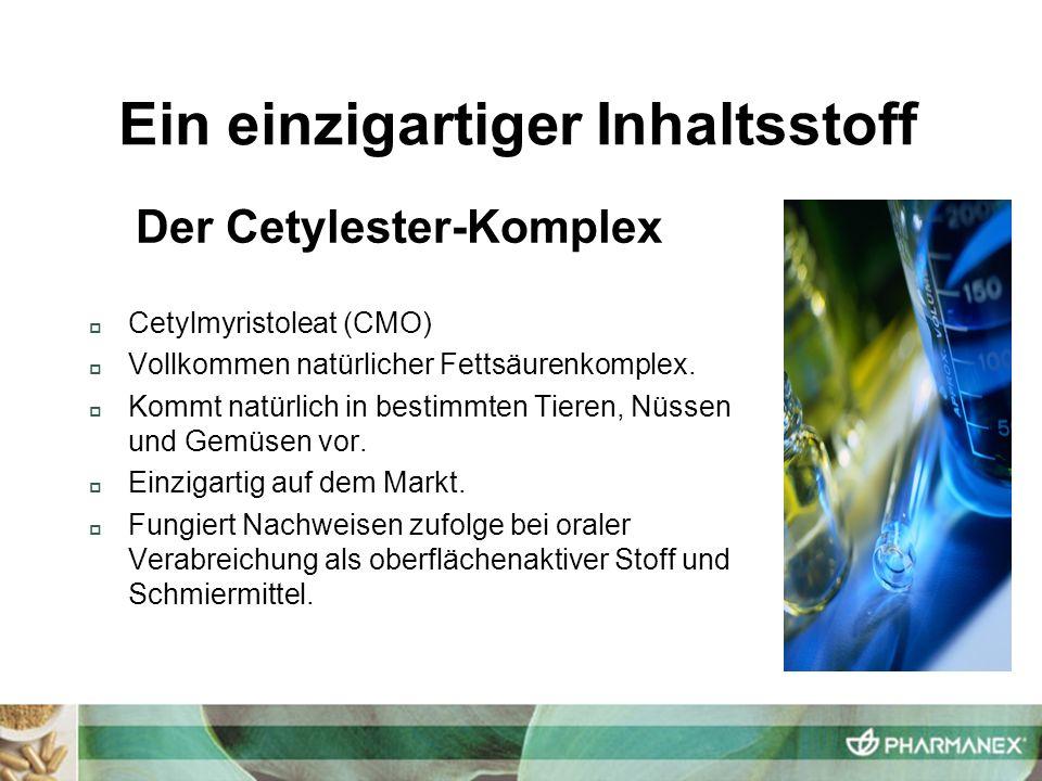 Ein einzigartiger Inhaltsstoff Der Cetylester-Komplex
