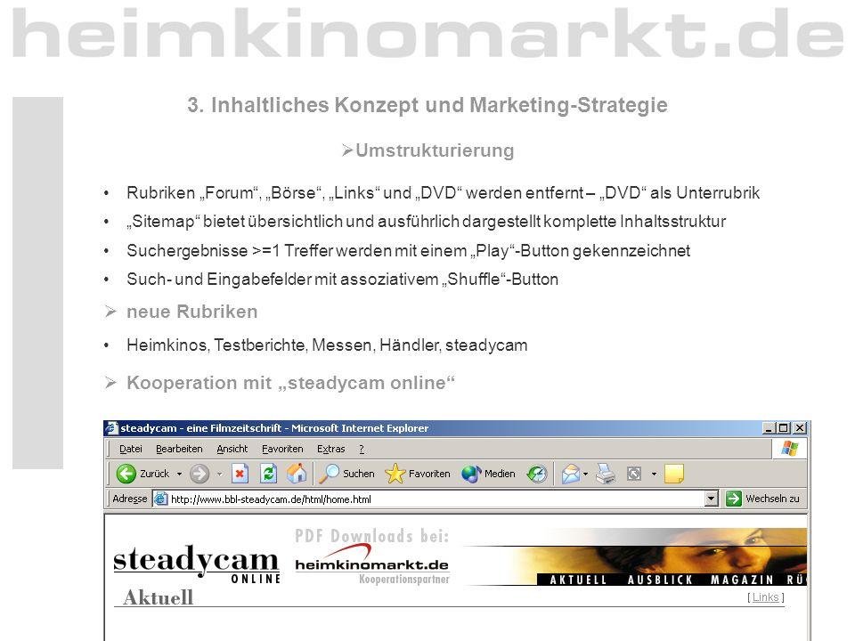 3. Inhaltliches Konzept und Marketing-Strategie