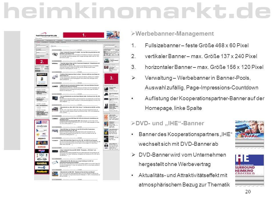 Werbebanner-Management