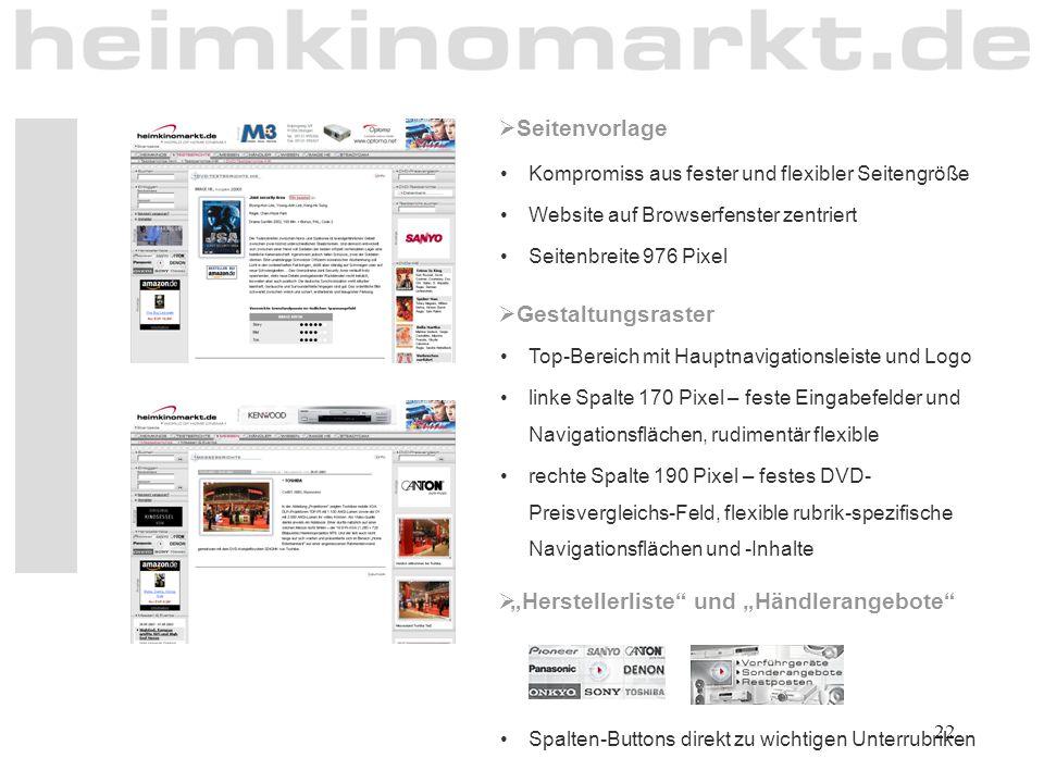 """""""Herstellerliste und """"Händlerangebote"""