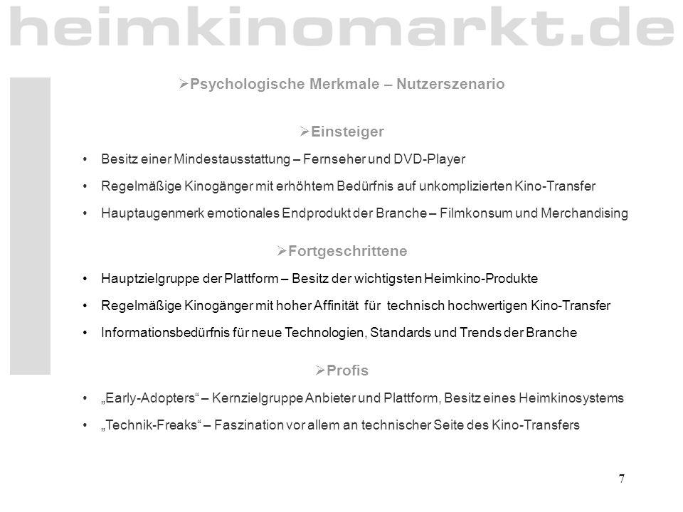 Psychologische Merkmale – Nutzerszenario