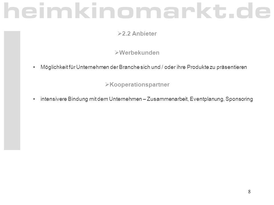 2.2 Anbieter Werbekunden Kooperationspartner