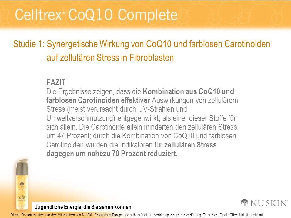 Studie 1: Synergetische Wirkung von CoQ10 und farblosen Carotinoiden