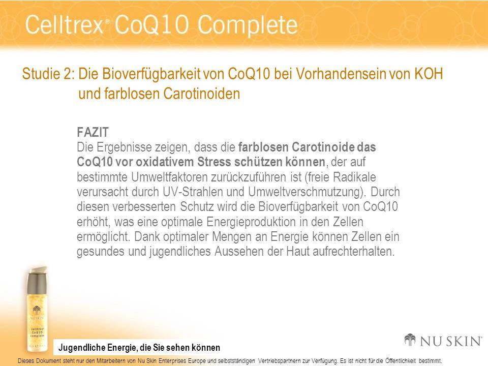 Studie 2: Die Bioverfügbarkeit von CoQ10 bei Vorhandensein von KOH
