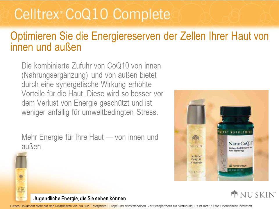 Optimieren Sie die Energiereserven der Zellen Ihrer Haut von innen und außen