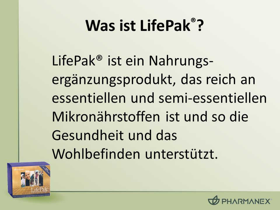 Was ist LifePak®
