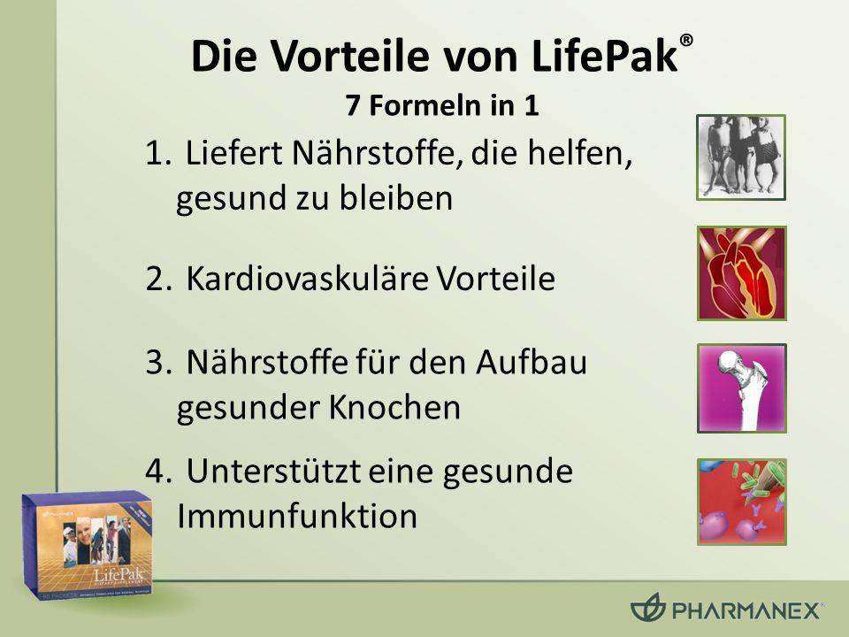 Die Vorteile von LifePak® 7 Formeln in 1