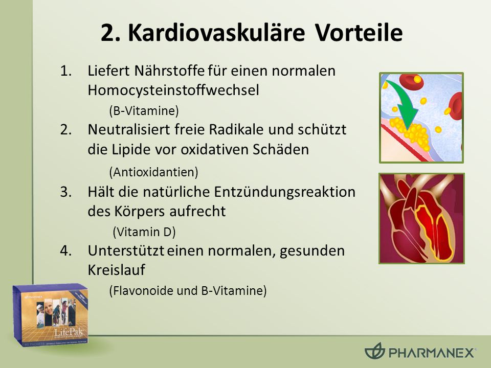 2. Kardiovaskuläre Vorteile