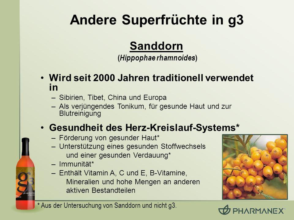 Andere Superfrüchte in g3 (Hippophae rhamnoides)