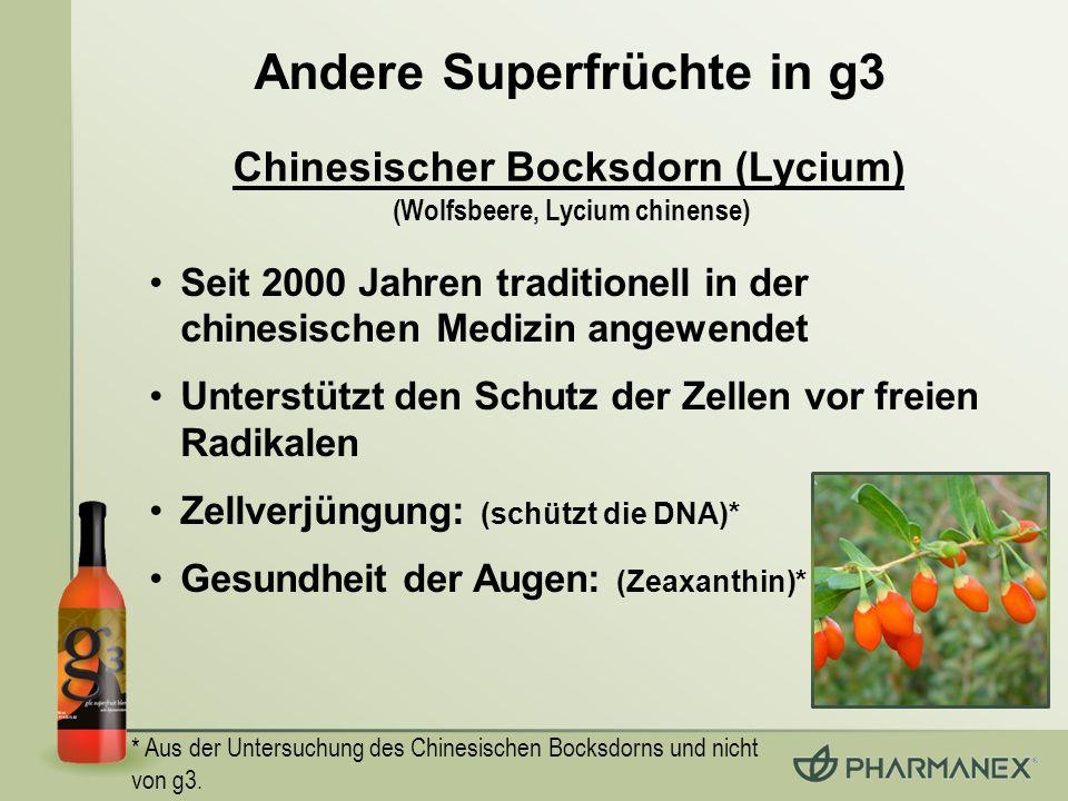 Andere Superfrüchte in g3