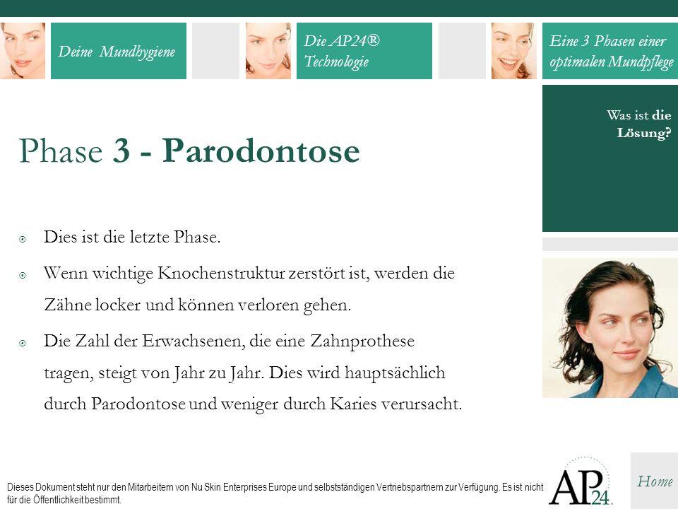 Phase 3 - Parodontose Dies ist die letzte Phase.