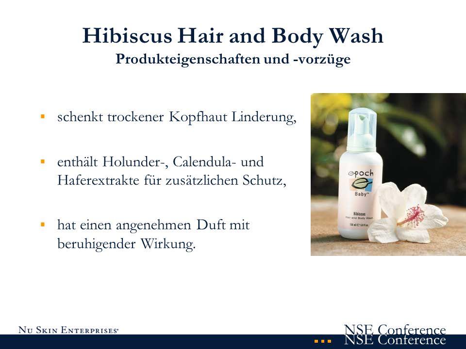 Hibiscus Hair and Body Wash Produkteigenschaften und -vorzüge