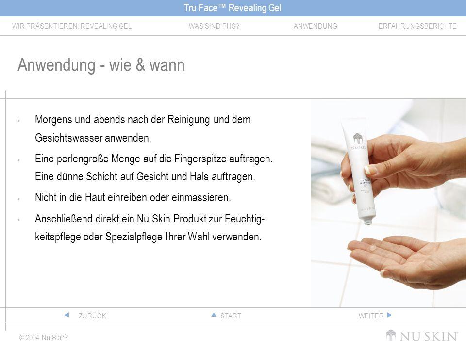 Anwendung - wie & wann Morgens und abends nach der Reinigung und dem Gesichtswasser anwenden.
