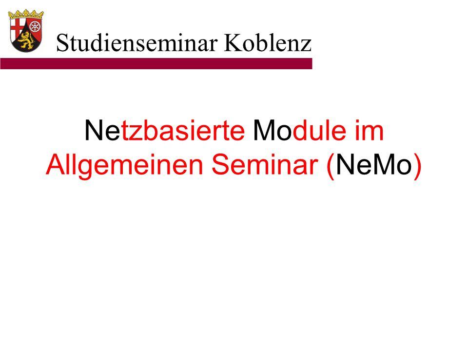 Netzbasierte Module im Allgemeinen Seminar (NeMo)