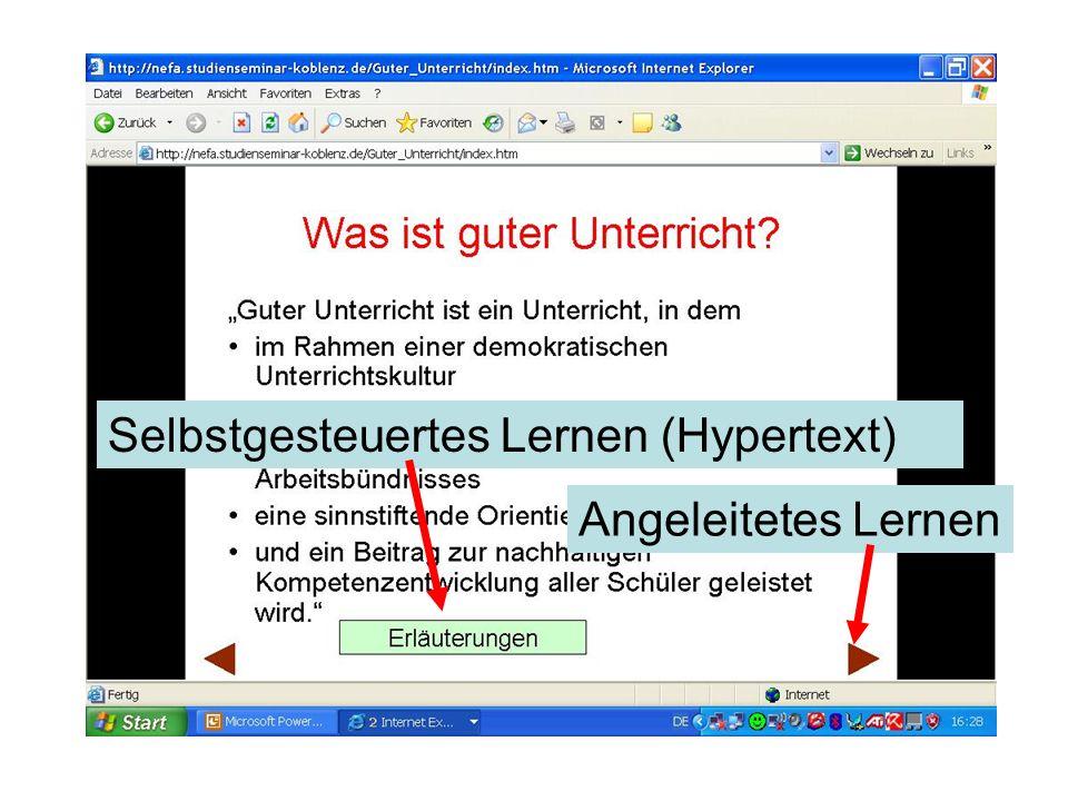 Selbstgesteuertes Lernen (Hypertext)