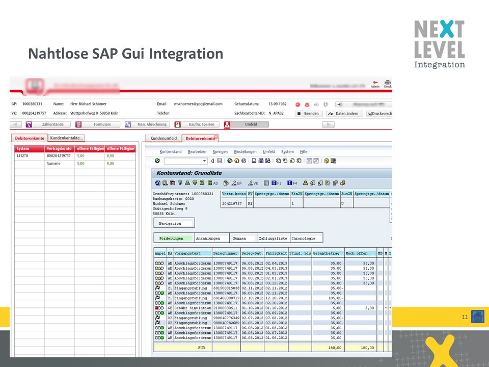 Nahtlose SAP Gui Integration