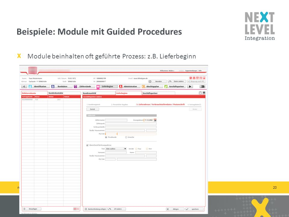 Beispiele: Module mit Guided Procedures