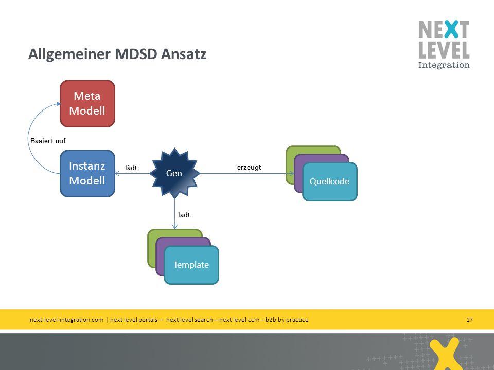 Allgemeiner MDSD Ansatz
