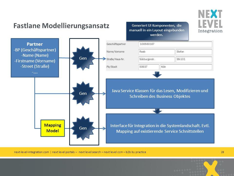 Fastlane Modellierungsansatz