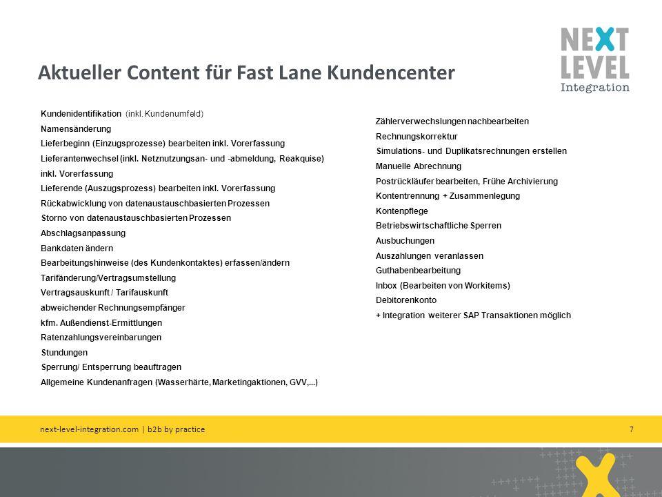 Aktueller Content für Fast Lane Kundencenter