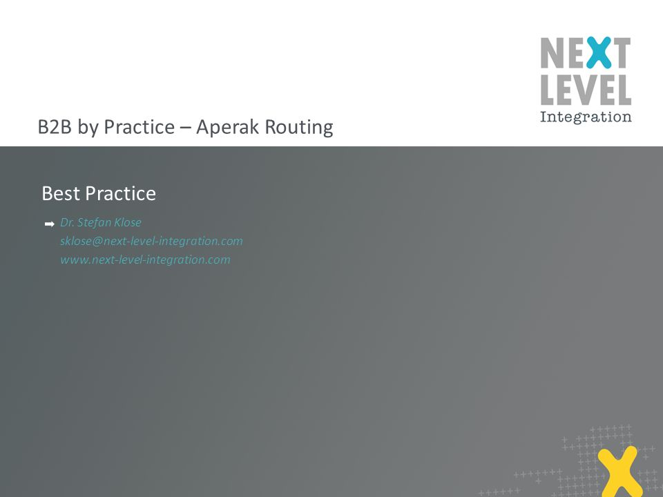B2B by Practice – Aperak Routing