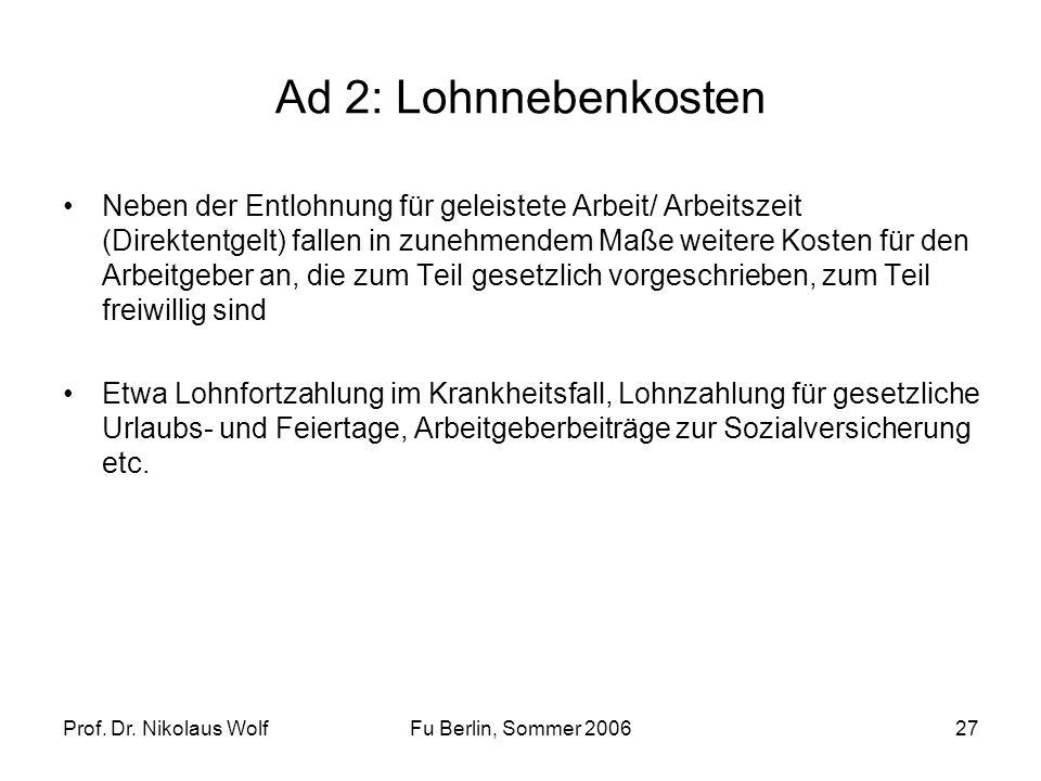 Ad 2: Lohnnebenkosten