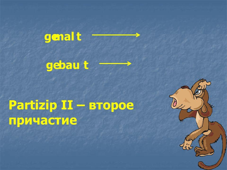 Partizip II – второе причастие