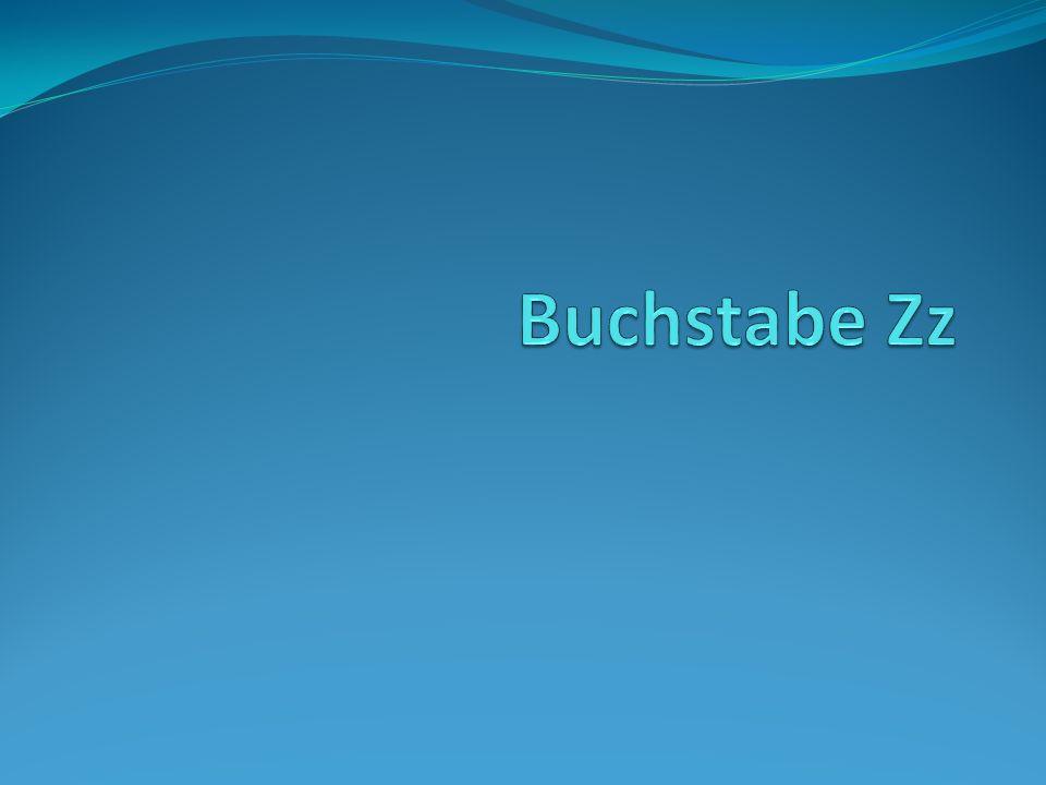 Buchstabe Zz