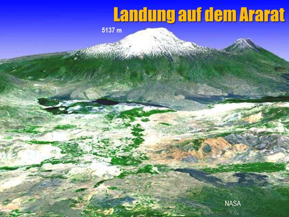 Landung auf dem Ararat 5137 m NASA