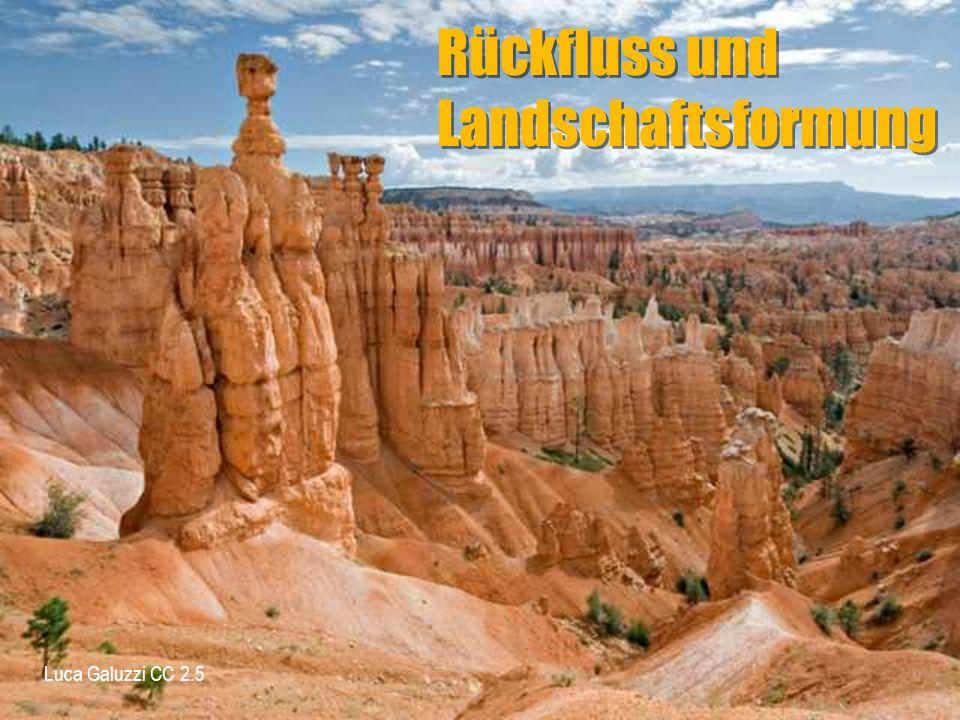 Rückfluss und Landschaftsformung