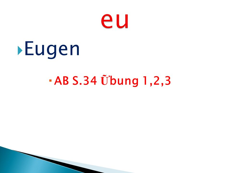 eu Eugen AB S.34 Ữbung 1,2,3