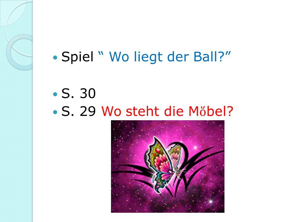 Spiel Wo liegt der Ball