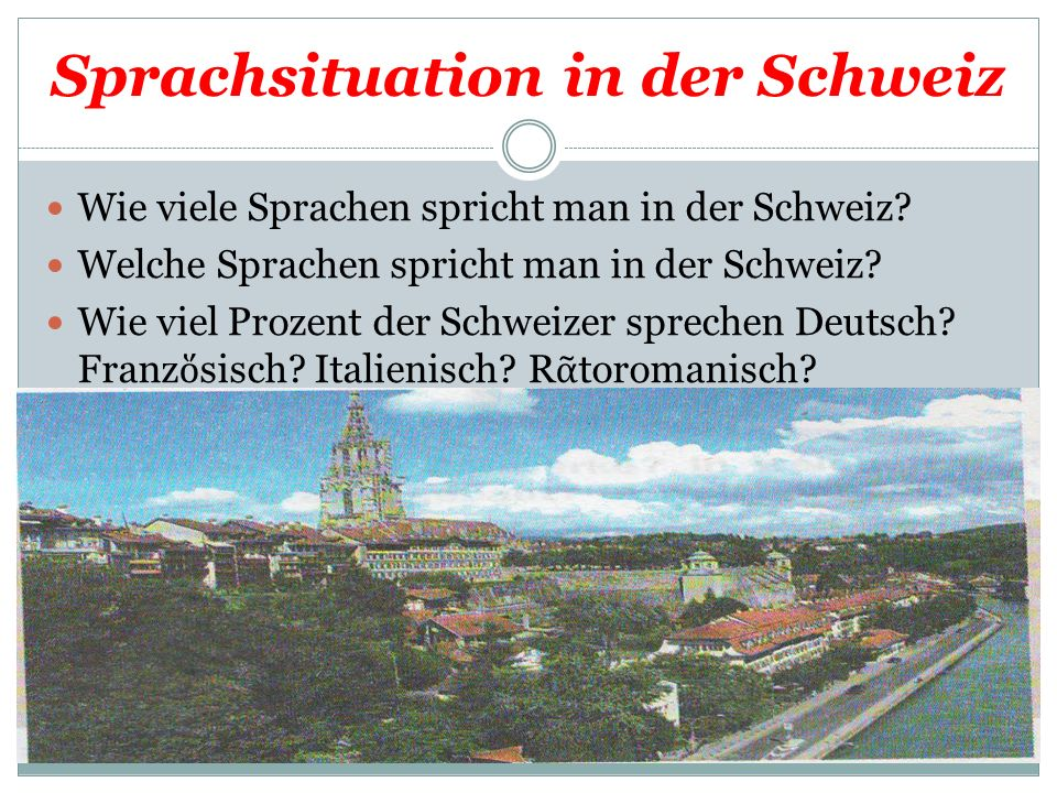 Sprachsituation in der Schweiz