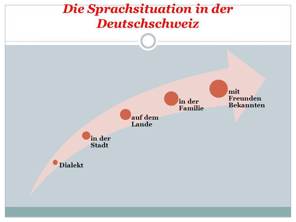 Die Sprachsituation in der Deutschschweiz