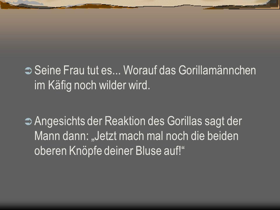 Download von PPSFun.de Seine Frau tut es... Worauf das Gorillamännchen im Käfig noch wilder wird.