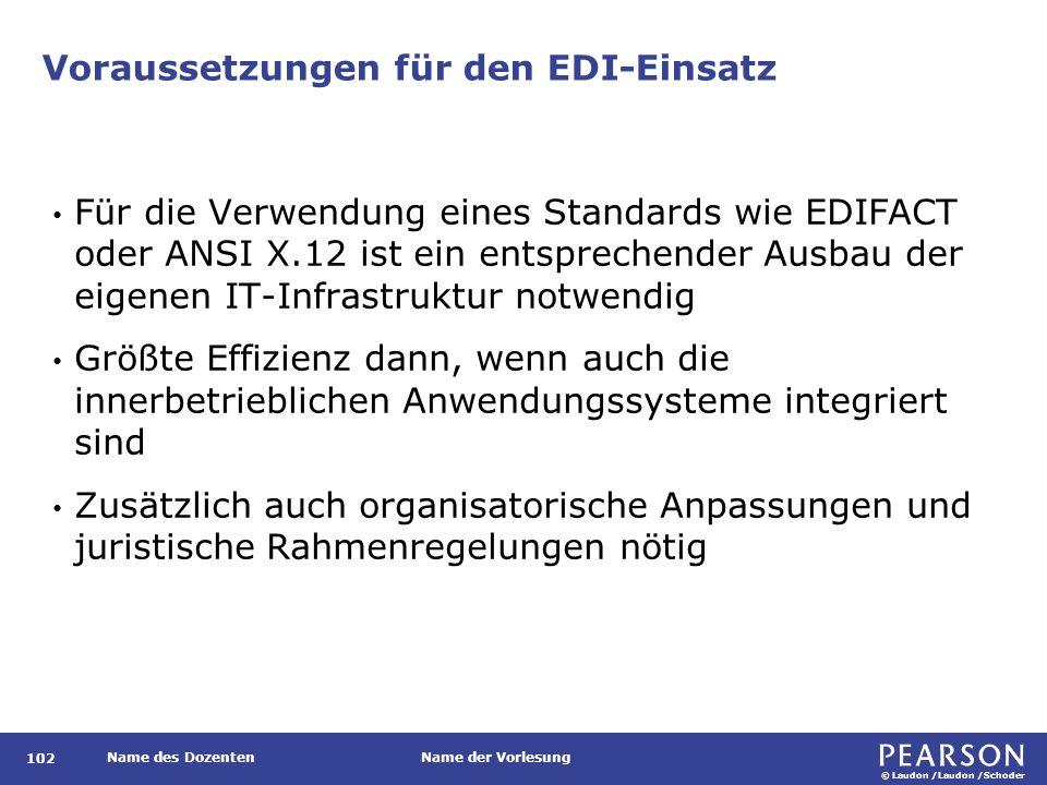 Voraussetzungen für den EDI-Einsatz