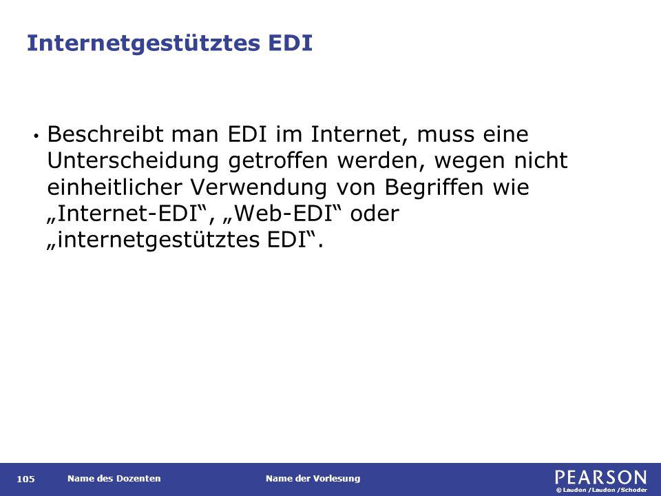 Klassisches EDI und internetgestütztes EDI