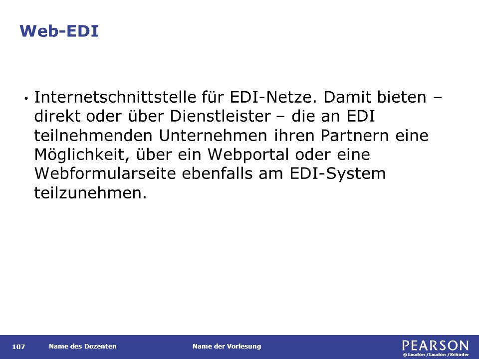 Web-EDI, angeboten durch ein teilnehmendes Unternehmen