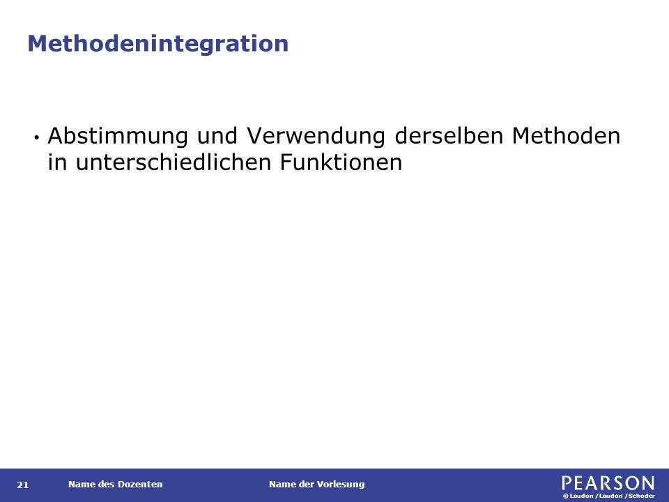 Programmintegration Abstimmung einzelner Softwarebausteine im Rahmen eines integrierten Systems.