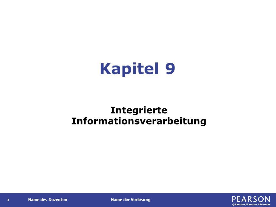 Gegenstand Geschäftsprozessbezogene, innerbetriebliche und überbetriebliche Integration von Informationssystemen.