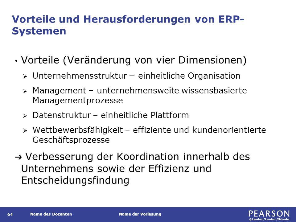 Vorteile und Herausforderungen von ERP-Systemen