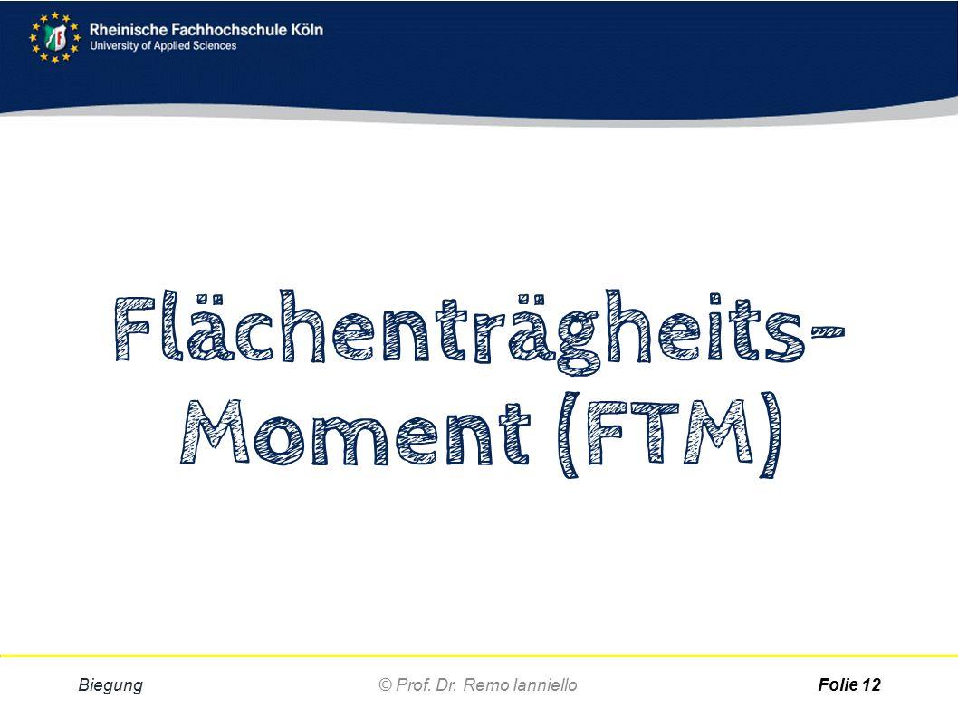 Flächenträgheits- Moment (FTM)