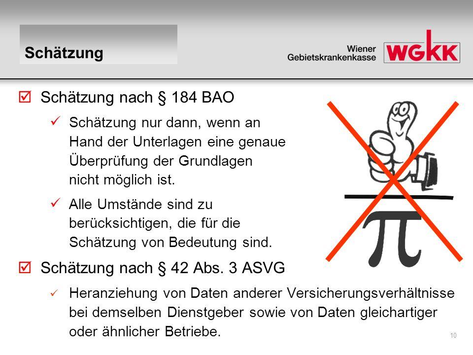 Schätzung nach § 42 Abs. 3 ASVG