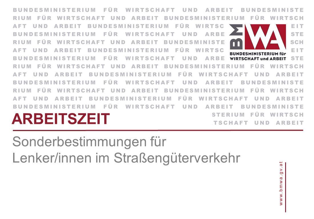 Sonderbestimmungen für Lenker/innen im Straßengüterverkehr