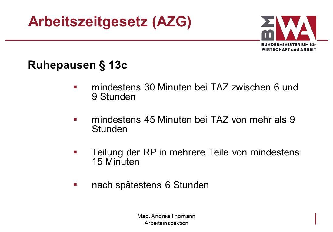 Arbeitszeitgesetz (AZG)